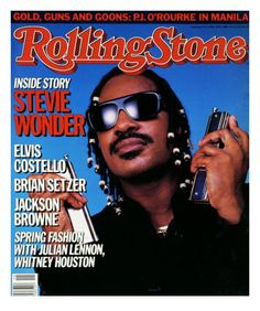Stevie Wonder feature on Rolling Stone. April 1986.