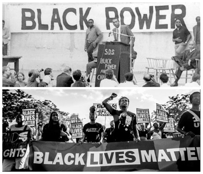 black power movement The black power movement grew out of the civil rights movement that had steadily gained momentum through the 1950s and 1960s although not a formal movement.