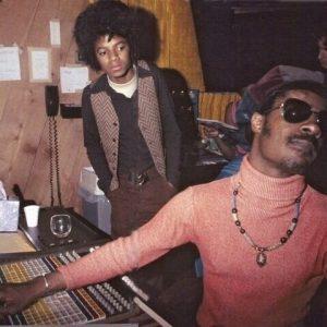 1974, Michael Jackson and Stevie Wonder. Motown Studios