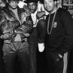 American hip hop group Run DMC, 1986. Left to right: Darryl 'D.M.C.' McDaniels, Jason 'Jam-Master Jay' Mizell (1965 - 2002) and Joseph 'DJ Run' Simmons. (Photo by Dave Hogan/Hulton Archive/Getty Images)